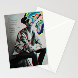 More of a man, more of a woman Stationery Cards