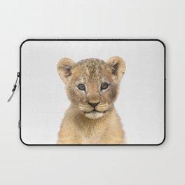Baby Lion Art Print by Zouzounio Art Laptop Sleeve