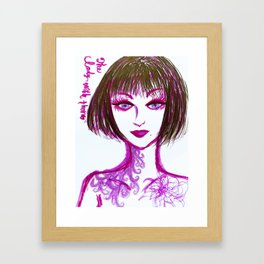 The Lady with thorn Framed Art Print