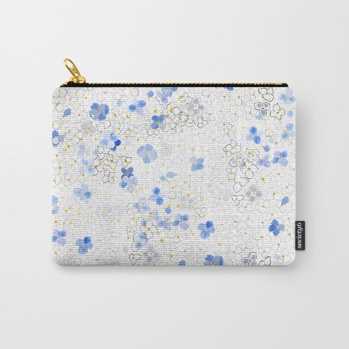 blue abstract hydrangea pattern Carry-All Pouch