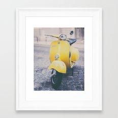 Make it Yellow Framed Art Print