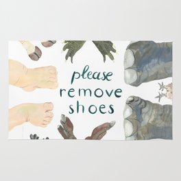 Please remove shoes Rug