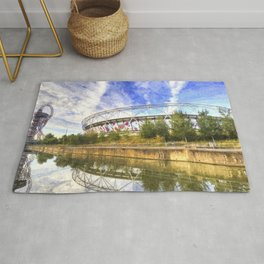 West Ham Olympic Stadium And The Arcelormittal Orbit Art Rug