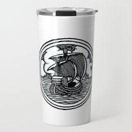 Ship stamp Travel Mug