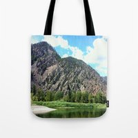 montana Tote Bags featuring Montana Rock  by OrdinaryAdventures