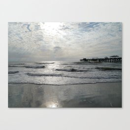 On A Stormy Winterday Canvas Print