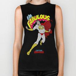 """""""I'm Fabulous"""" - Captain Obvious Biker Tank"""