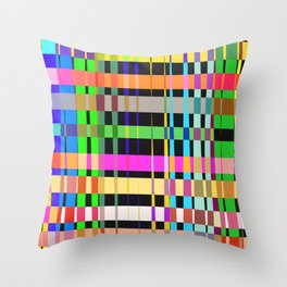inclined coloured stripes Throw Pillow