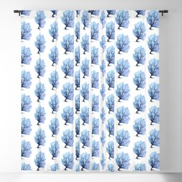 Fan Coral - Blue Blackout Curtain