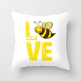 Love Bees, Bee Lover, Bee Gift, Bumble Bee Throw Pillow