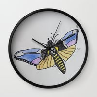 silence of the lambs Wall Clocks featuring Death-Head ... Silence of the Lambs by Paxton Keating