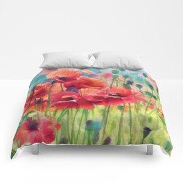 Poppy Parade Comforters