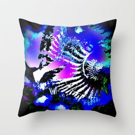 Fossil - Ammonite and Buddleia Throw Pillow
