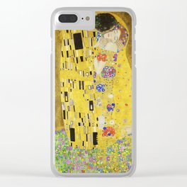 The Kiss by Gustav Klimt, 1909 Clear iPhone Case
