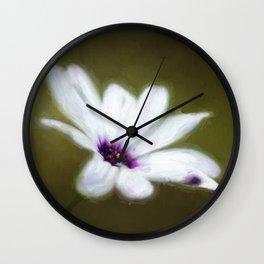 Painted Daisy Wall Clock