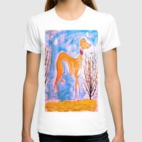 greyhound T-shirts featuring Greyhound by Caballos of Colour