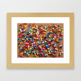 Assortment of stationery Framed Art Print