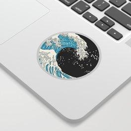 The Great Wave (night version) Sticker
