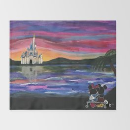 Romantic Castle Viewing Throw Blanket