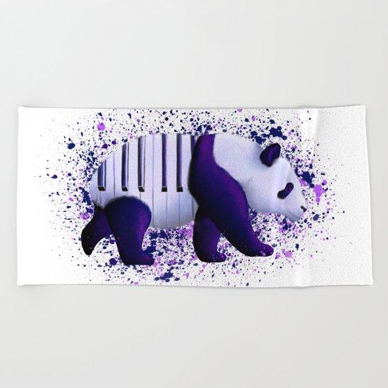 Piano Panda Beach Towel