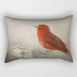 Song of the Summer Tanager 1 - Birds Rectangular Pillow
