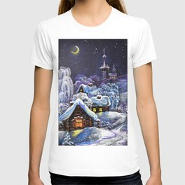 Winter in the village # 5 T-shirt
