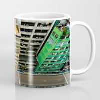 hong kong Mugs featuring Hong Kong by Gal Raz