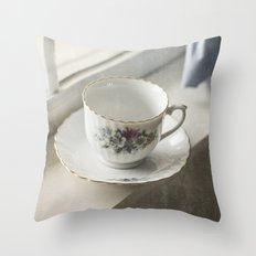 Momma's Fine China Throw Pillow