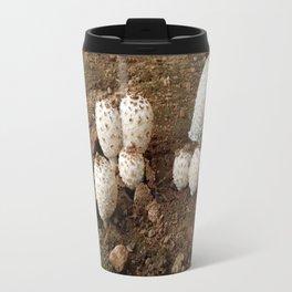 White Mushrooms Travel Mug