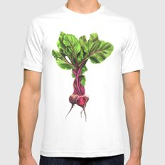 Beets Mens Fitted Tee MEDIUM White