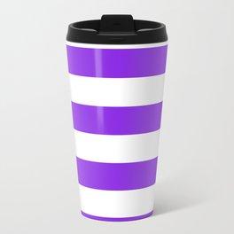 Horizontal stripes / blue violent Travel Mug