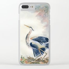 Great Blue Heron Couple Clear iPhone Case