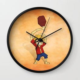 Origami Pirate Adventurer Wall Clock