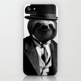 Sloth with Bowl Hat iPhone Case