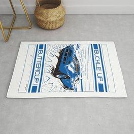 GT 40 blue Rug