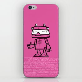 Ze Robot, Pink :) iPhone Skin