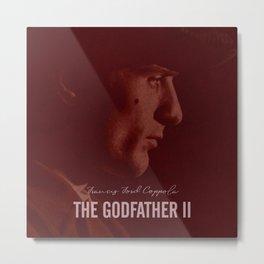 The Godfather Part II, Robert De Niro, Al Pacino, American movie poster Metal Print