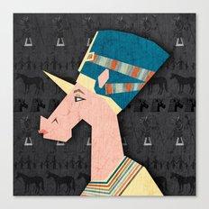 Queen Nefertiti Unicorn Canvas Print