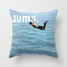 J.U.M.P. Throw Pillow