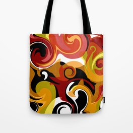 Molten Lava Swirls Tote Bag
