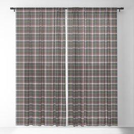 Black Tartan Plaid Sheer Curtain