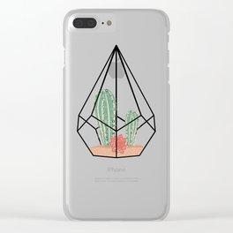 Modern Succulents Clear iPhone Case