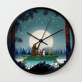 Bear and Fox Wall Clock