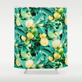 Lemon Tree Pattern Shower Curtain