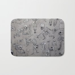 Skeleton Fun Bath Mat