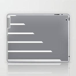 Half Stripes White and Sharkskin Laptop & iPad Skin
