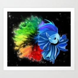 Stellar Betta Art Print