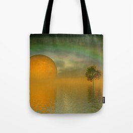 when the moon touched earth -13b- Tote Bag