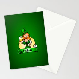 St. Patrick's Day Irish Maiden Stationery Cards