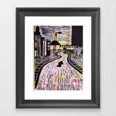 The Road Less Traveled Framed Art Print